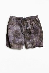 Urban Outfitters Uo Printed Slade Nylon Short Grey Multi
