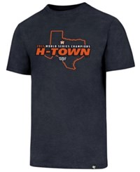 47 Brand '47 Men's Houston Astros 2017 World Series Champs Tx Club T Shirt Navy