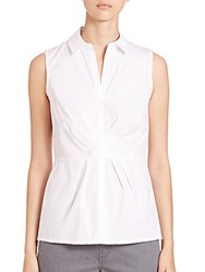 Lafayette 148 New York Sophie Sleeveless Blouse White