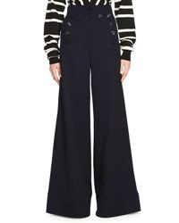 Chloe Wide Leg High Waist Pants Blue