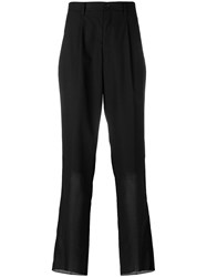Issey Miyake Loose Fit Tailored Trousers Black
