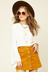 Forever 21 Corduroy Button Front Skirt
