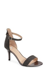 Women's Bp. 'Luminate' Open Toe Dress Sandal Black Glitter Faux Leather
