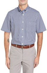 Nordstrom Men's Big And Tall Men's Shop Smartcare Tm Gingham Sport Shirt Navy Iris White Gingham