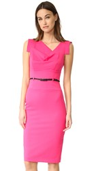 Black Halo Jackie O Belted Dress Pink Silk