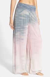 Hard Tail Wide Leg Pants Pale Pink Dusk