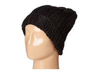 Free People Back To Basics Chunky Rib Beanie Black Beanies