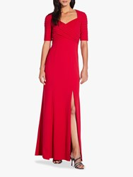 Adrianna Papell Crepe Pintuck Dress Spiced Apple