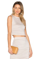 Twenty Superior Cropped Tank Taupe