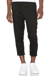 Stampd Cropped Chino Black