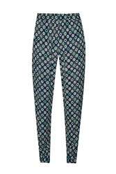 French Connection Medina Tile Printed Joggers Green