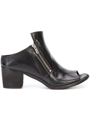 Officine Creative Sabot Open Ankle Boots Black
