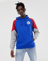 Mitchell And Ness Philadelphia 76Ers Cut Sew Hoodie In Navy