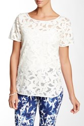 Insight Lasercut Tee White