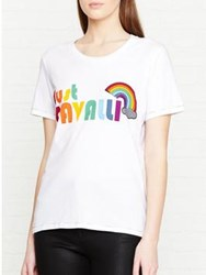 Just Cavalli Rainbow T Shirt White