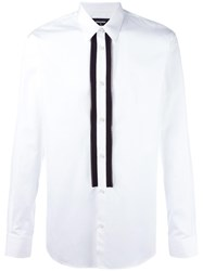 Dsquared2 Open Zip Placket Shirt White