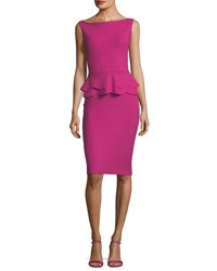 Chiara Boni La Petite Robe Sebla Sleeveless Peplum Cocktail Dress Erica