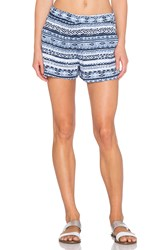 Michael Stars High Waist Pocket Short Blue