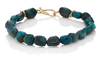 Dean Harris Chrysocolla Beaded Bracelet Blue