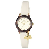 Radley Women's Watch It Silicone Strap Watch Cream Tortoise