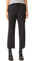 R 13 Cropped Dress Pants Black