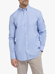 Eden Park Gingham Regular Fit Shirt Blue