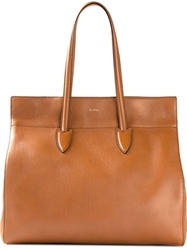 Max Mara Large Shopping Tote Brown