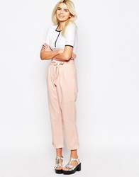 The Whitepepper Linen Trousers Pink