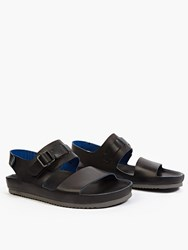 Officine Creative Black Leather Salinas Sandals