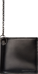 Alexander Mcqueen Black Leather Chain Bifold Wallet