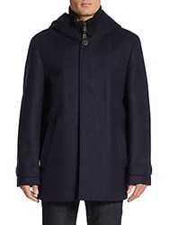 Mackage Wool Blend Hooded Coat Black