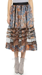 Zimmermann Riot Suspend Skirt Blue Batik