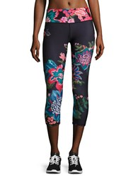 Nanette Lepore Cropped Floral Performance Leggings Tapestry