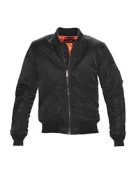 Schott Flight Satin Souvenir Jacket Black
