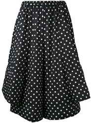 Comme Des Garcons Polka Dot Cropped Trousers Women Polyester S Blue