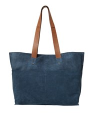White Stuff Madison Suede Tote Blue