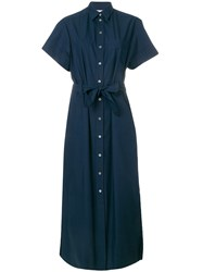 Maison Kitsune Isabella Long Shirt Dress Blue