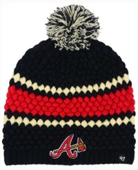 47 Brand '47 Women's Atlanta Braves Leslie Knit Hat Navy Red