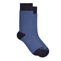 Kloters Milano Houndstooth Light Blue Grey Socks Blue Grey