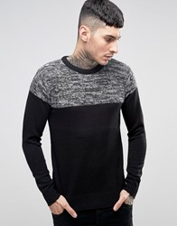 Brave Soul Jumper With Reverse Panel Grey