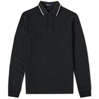 Fred Perry Long Sleeve Twin Tipped Polo Green