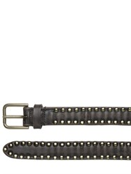 Dolce And Gabbana 25Mm Studded Vintage Leather Belt