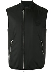 Emporio Armani Zipped Vest Black
