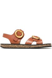Joseph Buckled Leather Sandals Tan
