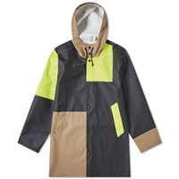 Stutterheim Stockholm Patched Raincoat Black