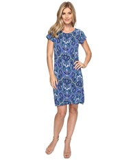 Hatley Tee Shirt Dress Clearwater Paisley Women's Dress Blue