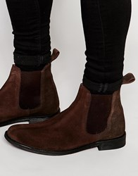 Lambretta Chelsea Boots In Brown Suede Brown