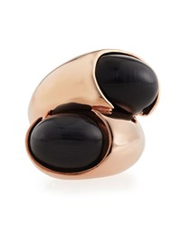 Tuleste Double Egg Ring Rose Gold Navy