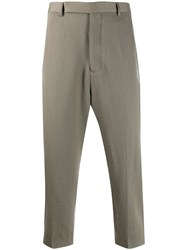 Rick Owens Classic Cropped Trousers Grey
