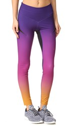 Lucas Hugh Rebel Leggings Purple Gold